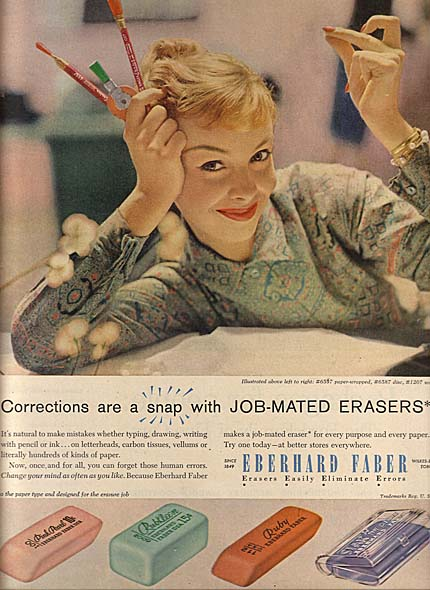 50s office girl ad