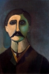 Portrait of Proust by Richard Lindner