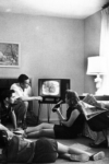 Family watching television, taken by Evert F. Baumgardner, ca. 1958.