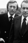 Former President Richard Nixon with TV interviewer David Frost in Mid-March in 1977 before they began taping their interviews later that month. (AP Photo)