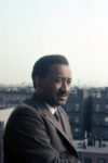 Murray on his Harlem balcony, c. 1970. © Estate of Albert Murray.
