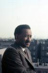 Murray on his Harlem balcony, c. 1970. © Estate of Albert Murray.
