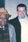 Albert Murray and Paul Devlin, editor of Murray Talks Music, in 2002.