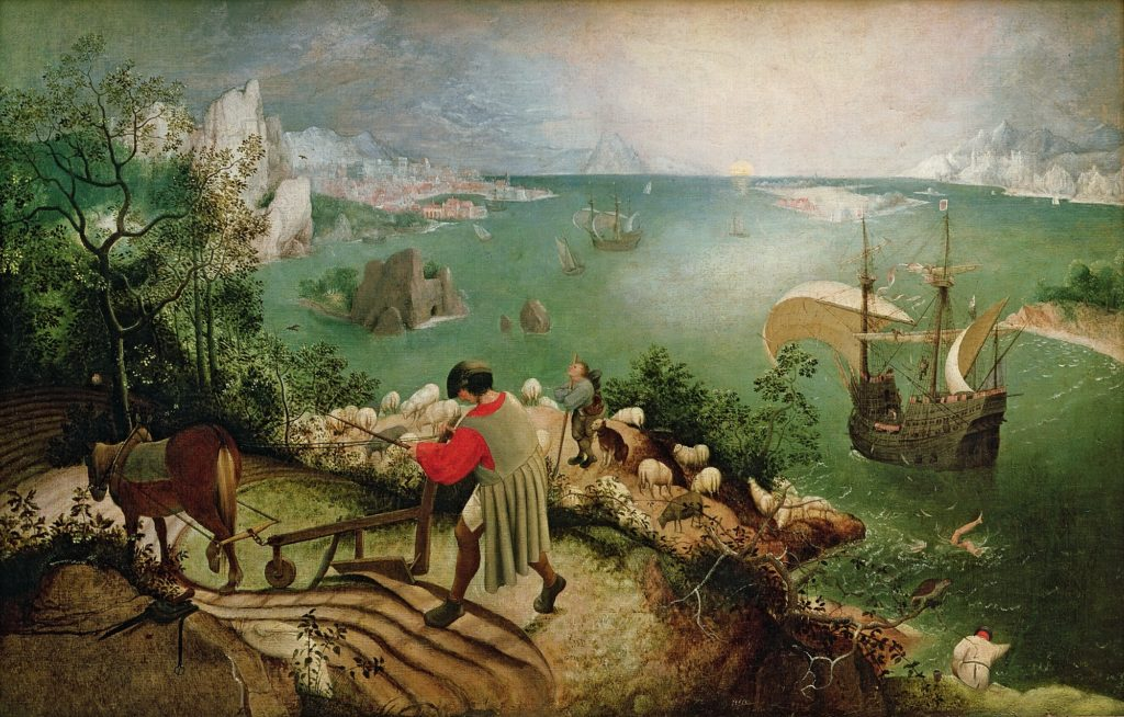 Landscape with the Fall of Icarus, Bruegel