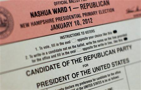 epolls president hampshire republican presidential primary