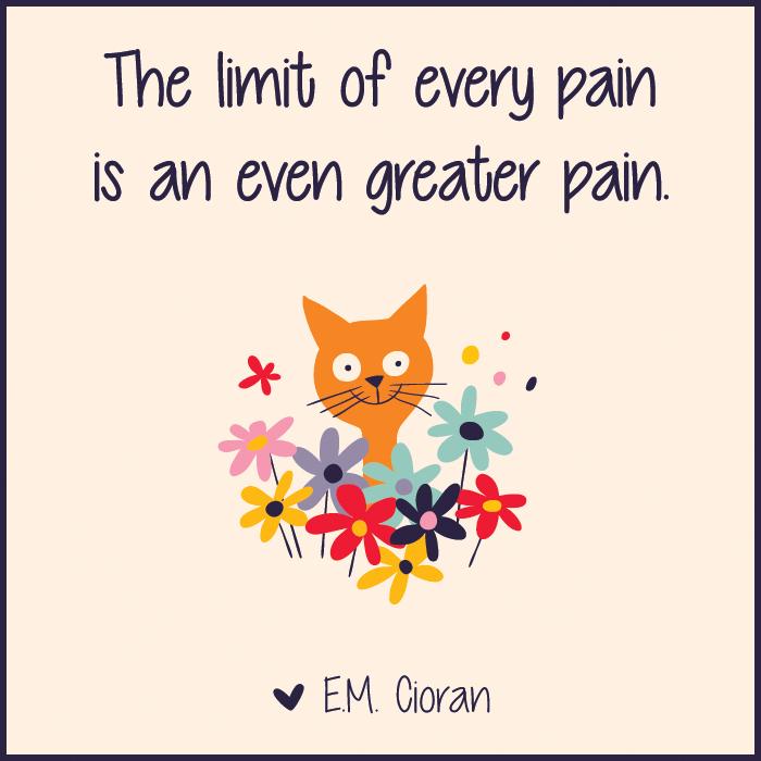 Emil M Cioran - Pain