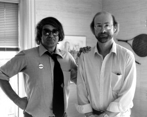 Steven Moore with with Alexander Theroux Cambridge, Massachusetts, August 1985