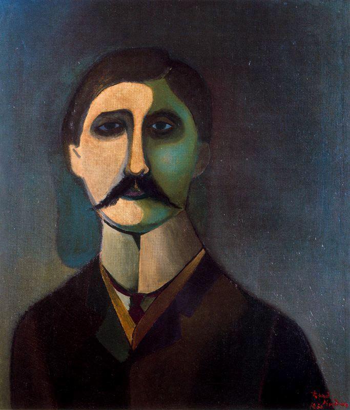Portrait of Proust by Richard Lindner