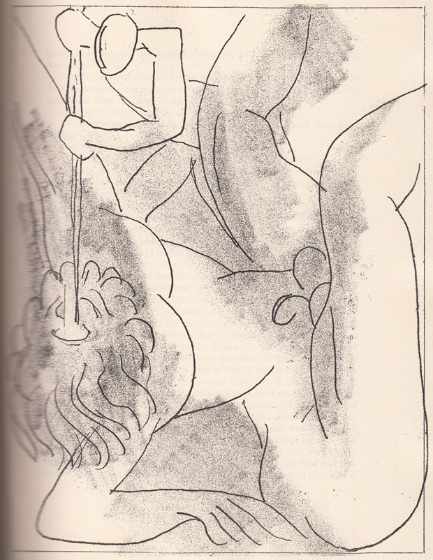 One of Henri Matisse's 1935 etchings illustrating Ulysses
