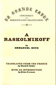 A Raskolnikoff cover