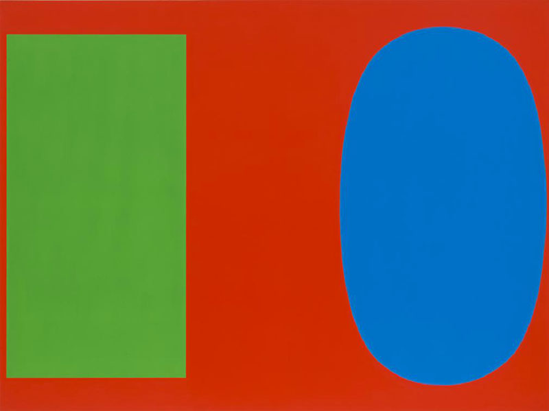 "Ellsworth Kelly, ""Red Blue Green,"" 1963"