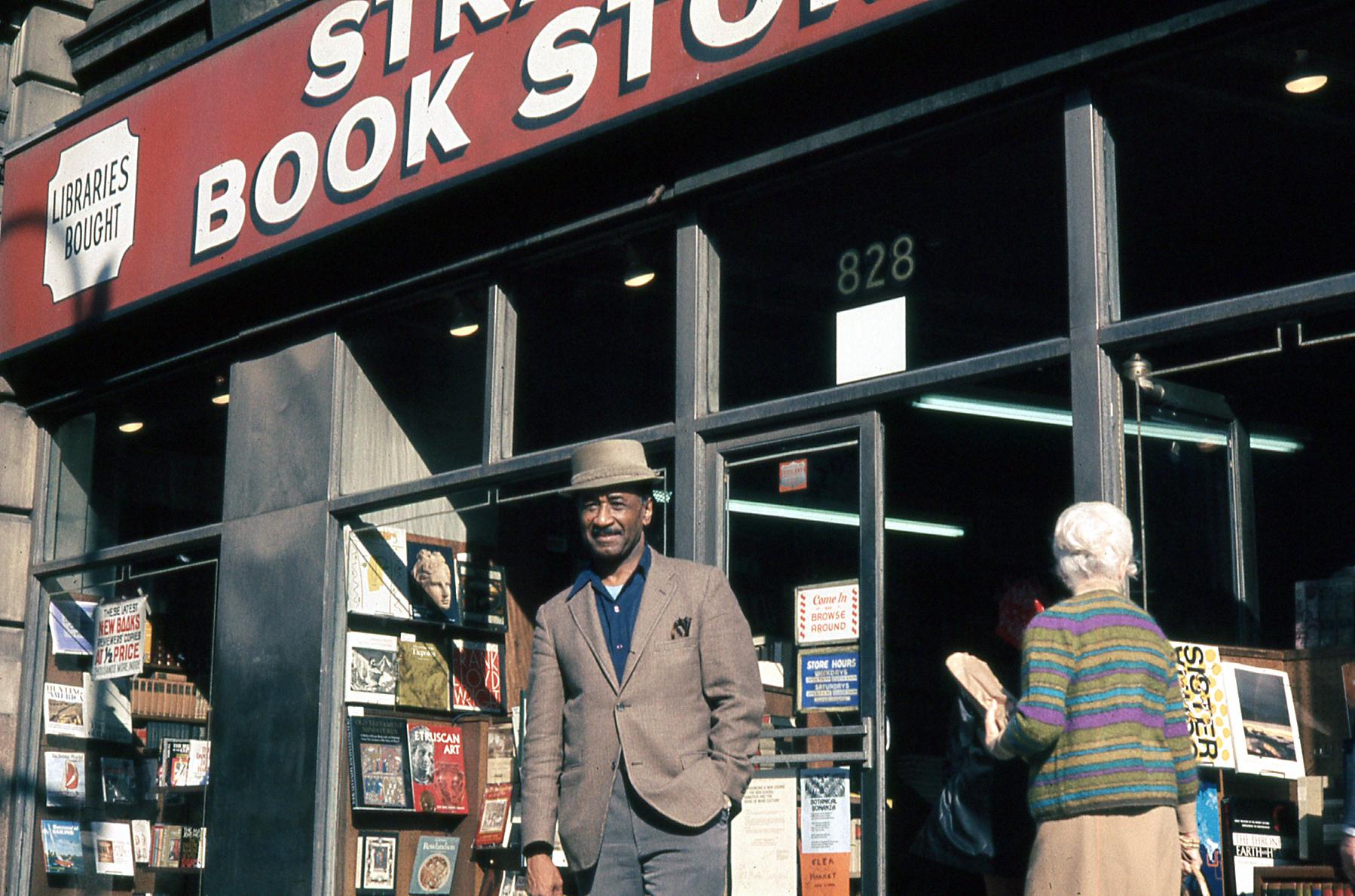 Murray outside of the Strand (c. late 1970s). © The Albert Murray Trust.