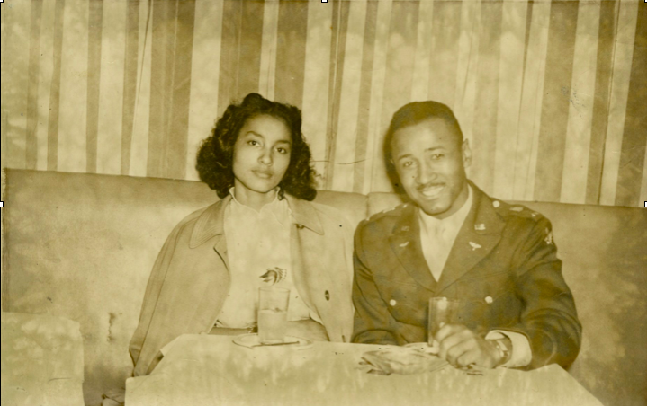 Mr. and Mrs. Murray in 1945. © Estate of Albert Murray.