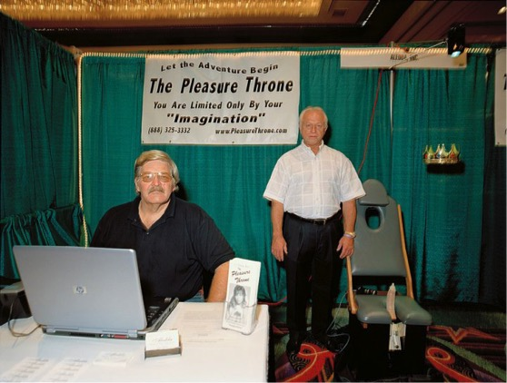Samson Delaso and Gerald Lavane, inventors of 'The Pleasure Throne,' July 9th 2001, Waco, TX