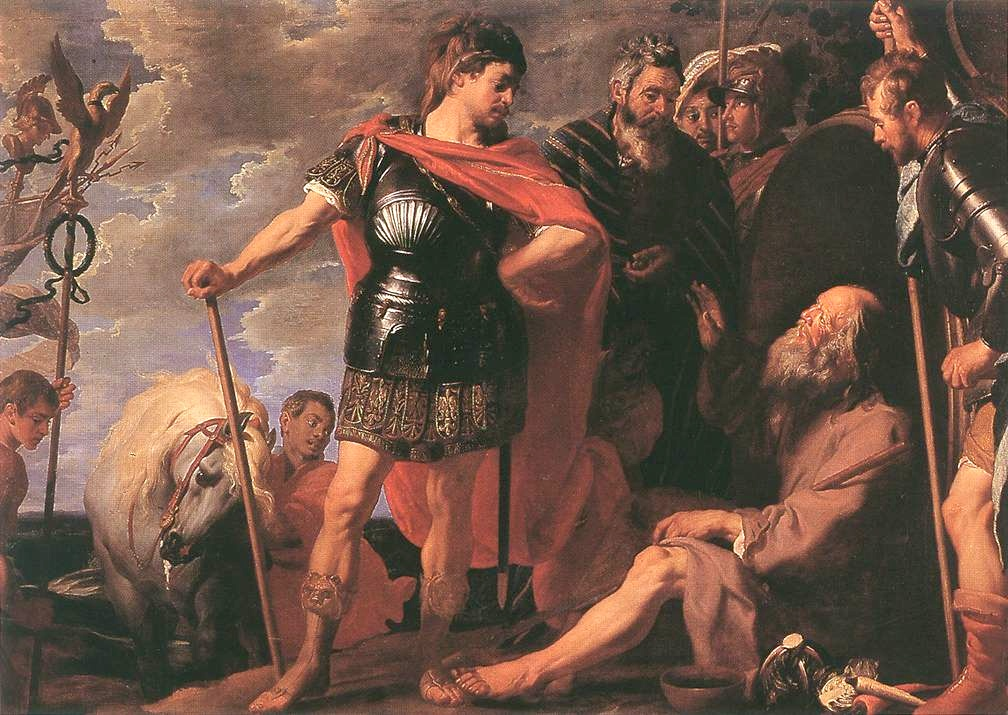 Alexander the Great and Diogenes by Gaspar de Crayer