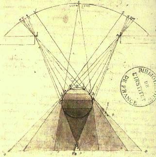 Da Vinci's study of gradations of shadows on spheres, circa 1492