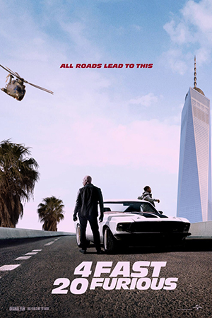 4 Fast 20 Furious poster