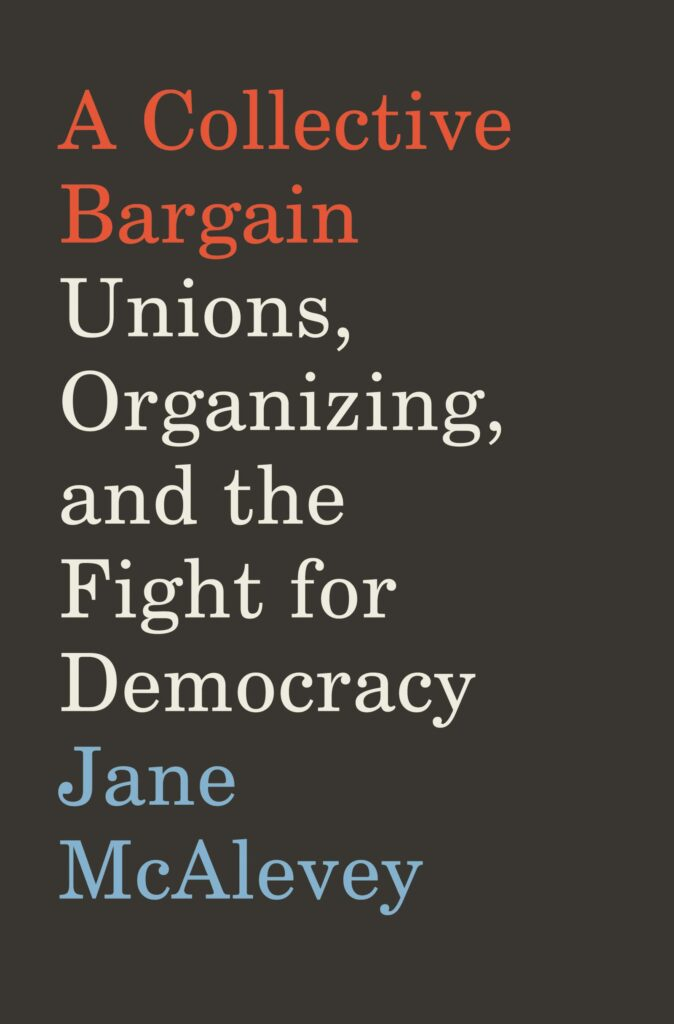 A Collective Bargain book cover: black background, red, white, and blue text.