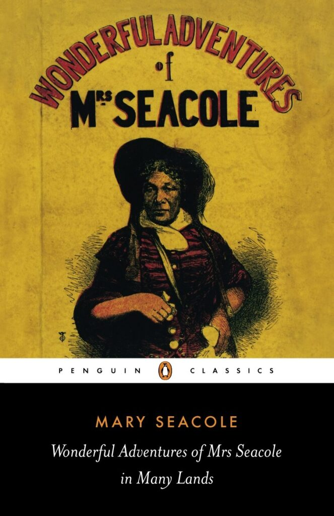Book cover of The Wonderful Adventures of Mrs. Seacole in Many Lands. Penguin reissue; 2005.