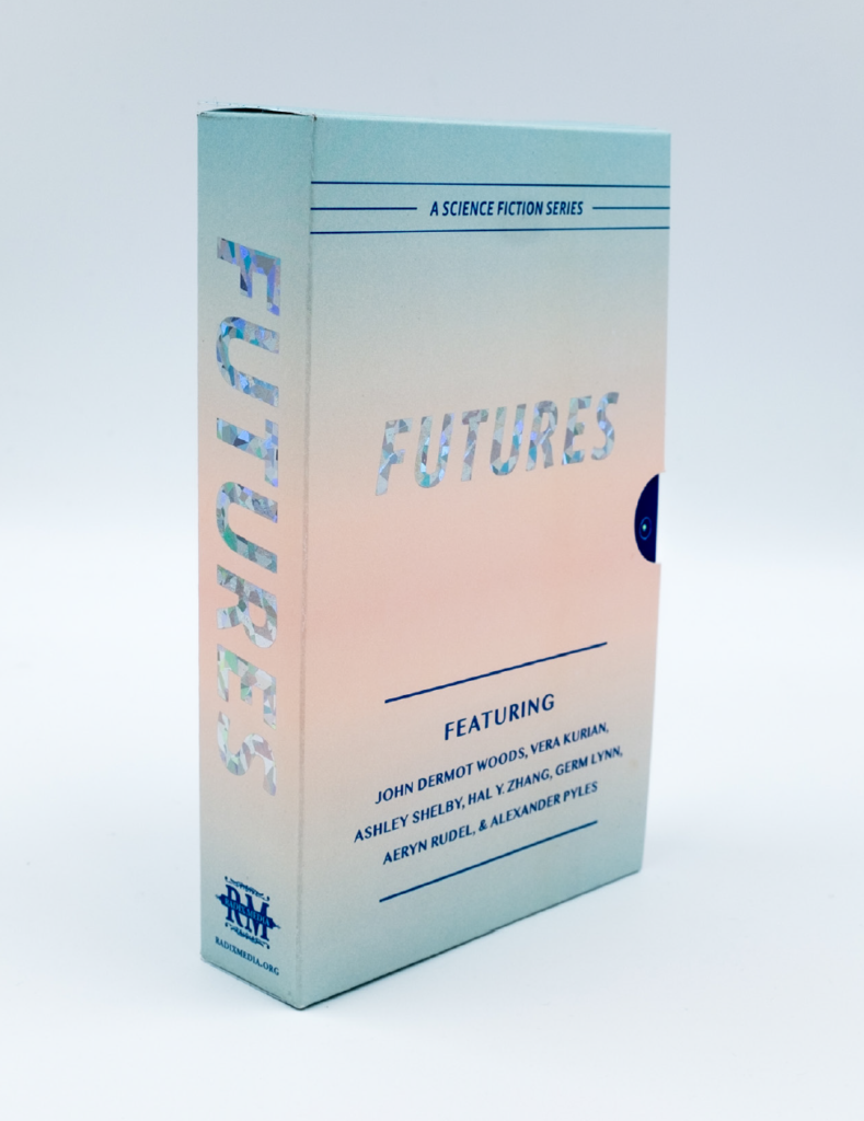 """""""Futures"""" box set, as printed by Radix Media in 2019."""