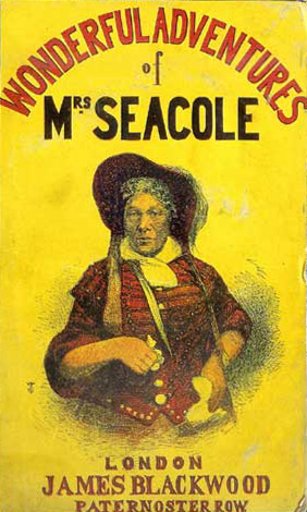 Book cover of The Wonderful Adventures of Mrs. Seacole in Many Lands. James Blackwood; 1857.