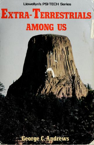 The Extraterrestrials Among Us book cover; large rocky plateau in the background, bright red block letters in the foreground.